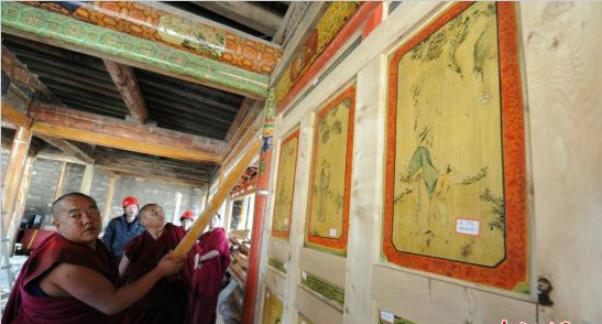 """""""世界藏学府""""甘南拉卜楞寺完成8个佛殿文物修缮"""