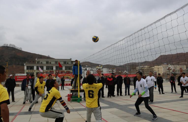 临潭举行排球,羽毛球比赛活动