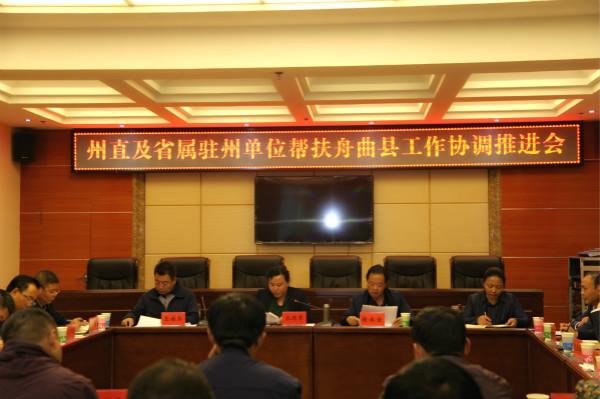 州直及省属驻州单位帮扶舟曲县工作协调推进会在合作召开