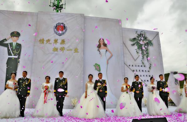 情定草原・相伴一生:甘南公安消防支队举行军人集体婚礼